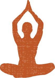 Silhouette of lady doing yoga