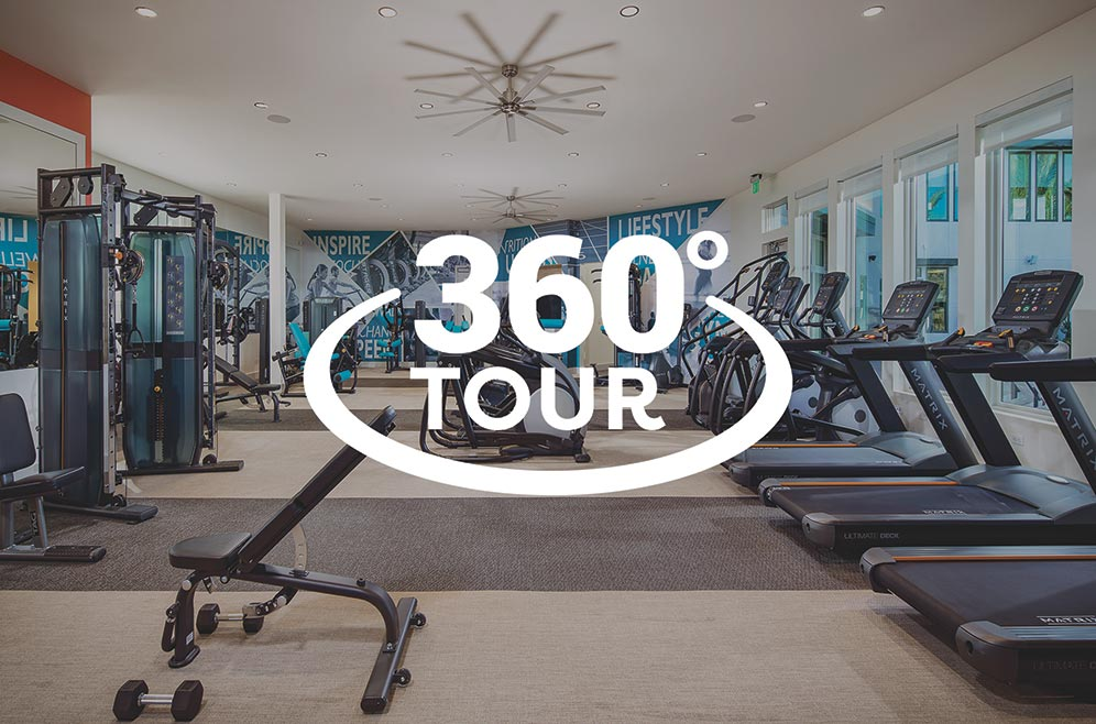 Gym at The Resort with 360 Virtual Tour icon