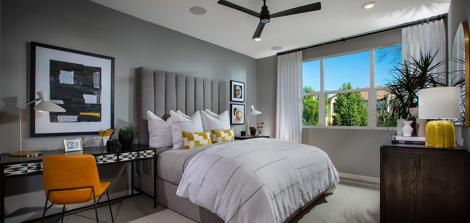 master bedroom of Residence 1A at Nova