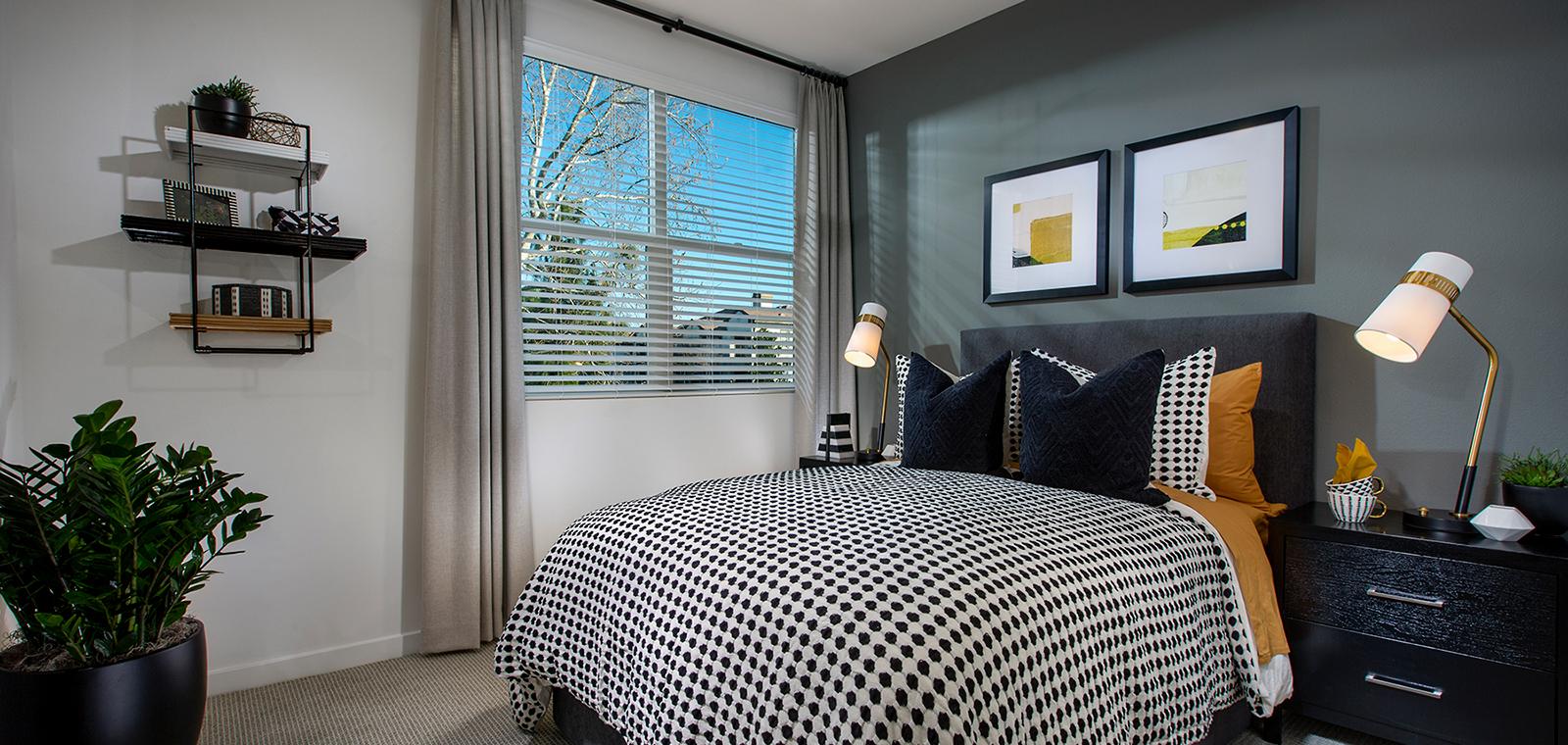 bedroom of Residence 1A at Nova
