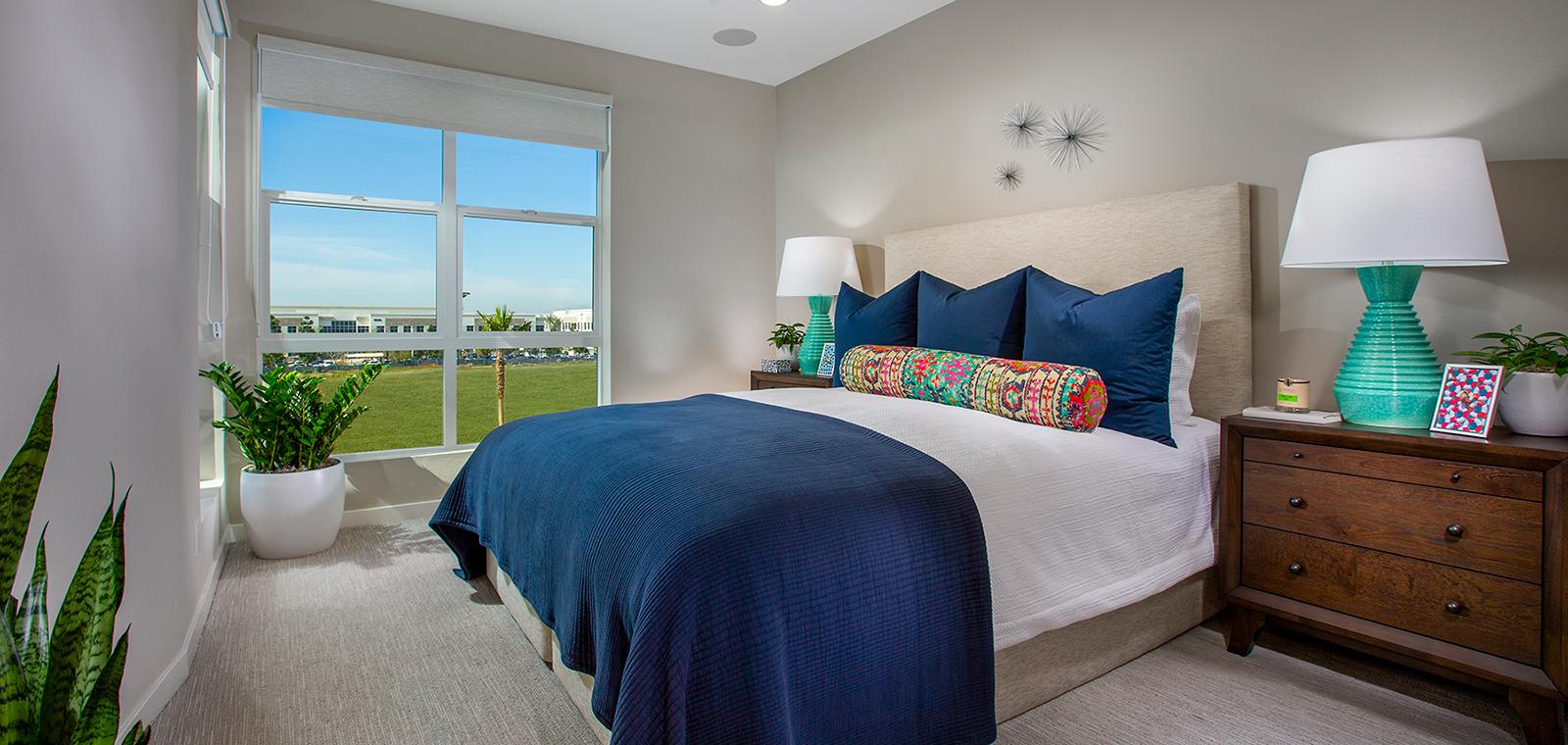 master bedroom of residence 3 at Nova