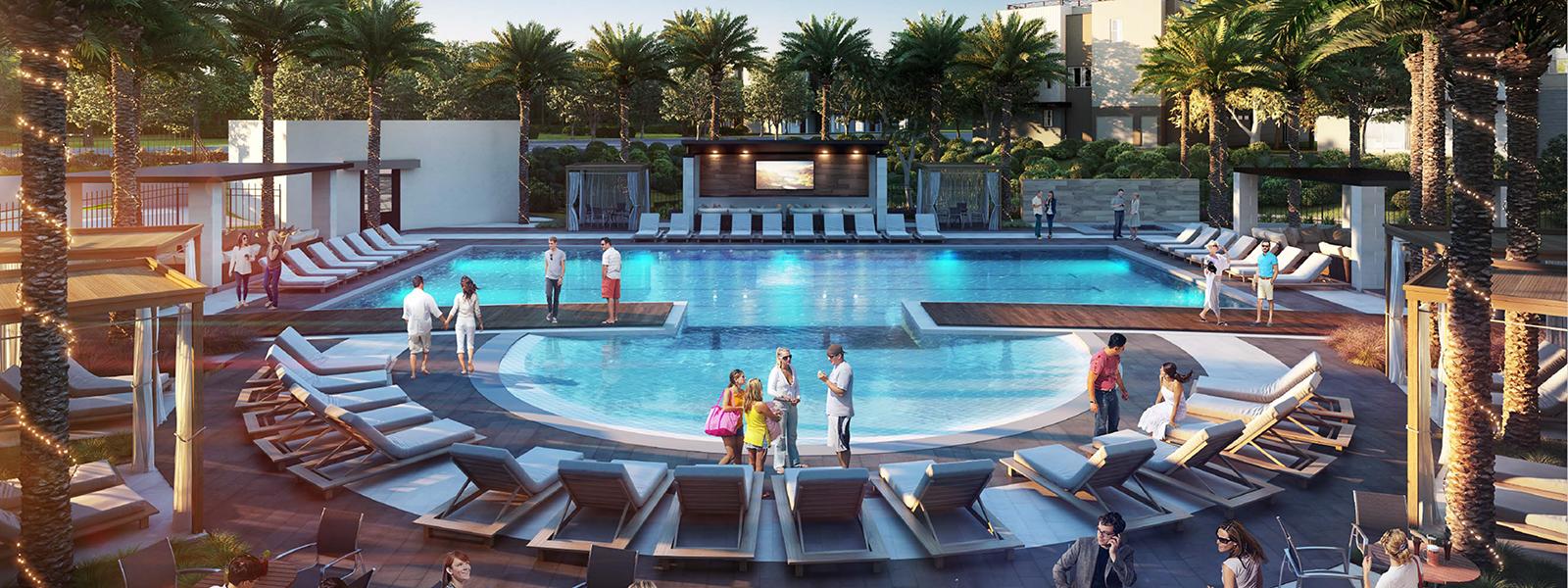 rendering of Club on 6th pool