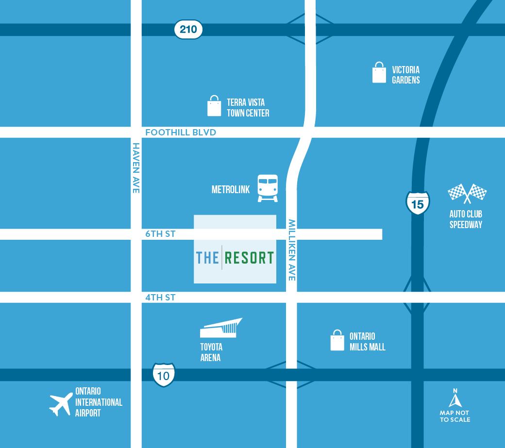 drive map of The Resort