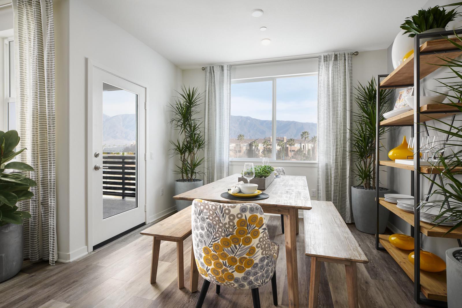 Dining Area | Residence 1 | Aspire | New Homes in Rancho Cucamonga, CA | Van Daele Homes