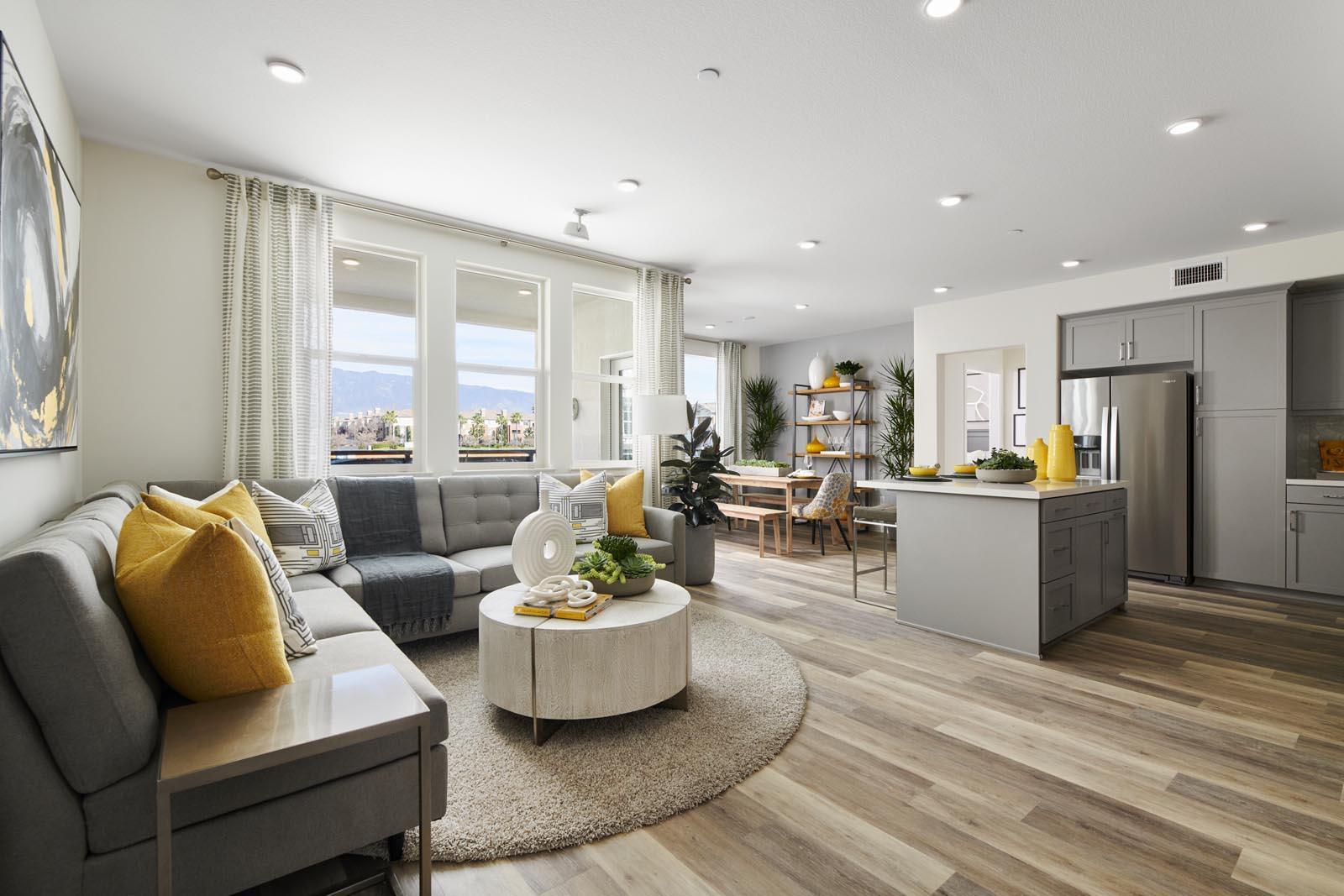 Great Room   Residence 1   Aspire   New Homes in Rancho Cucamonga, CA   Van Daele Homes