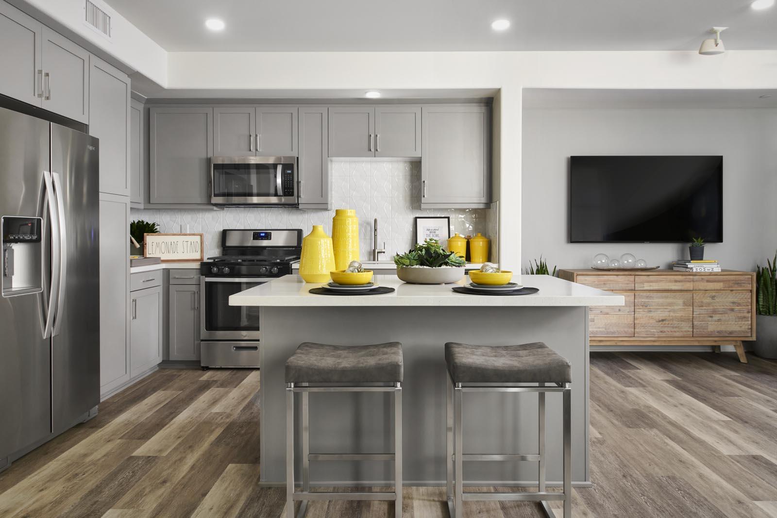 Kitchen | Residence 1 | Aspire | New Homes in Rancho Cucamonga, CA | Van Daele Homes