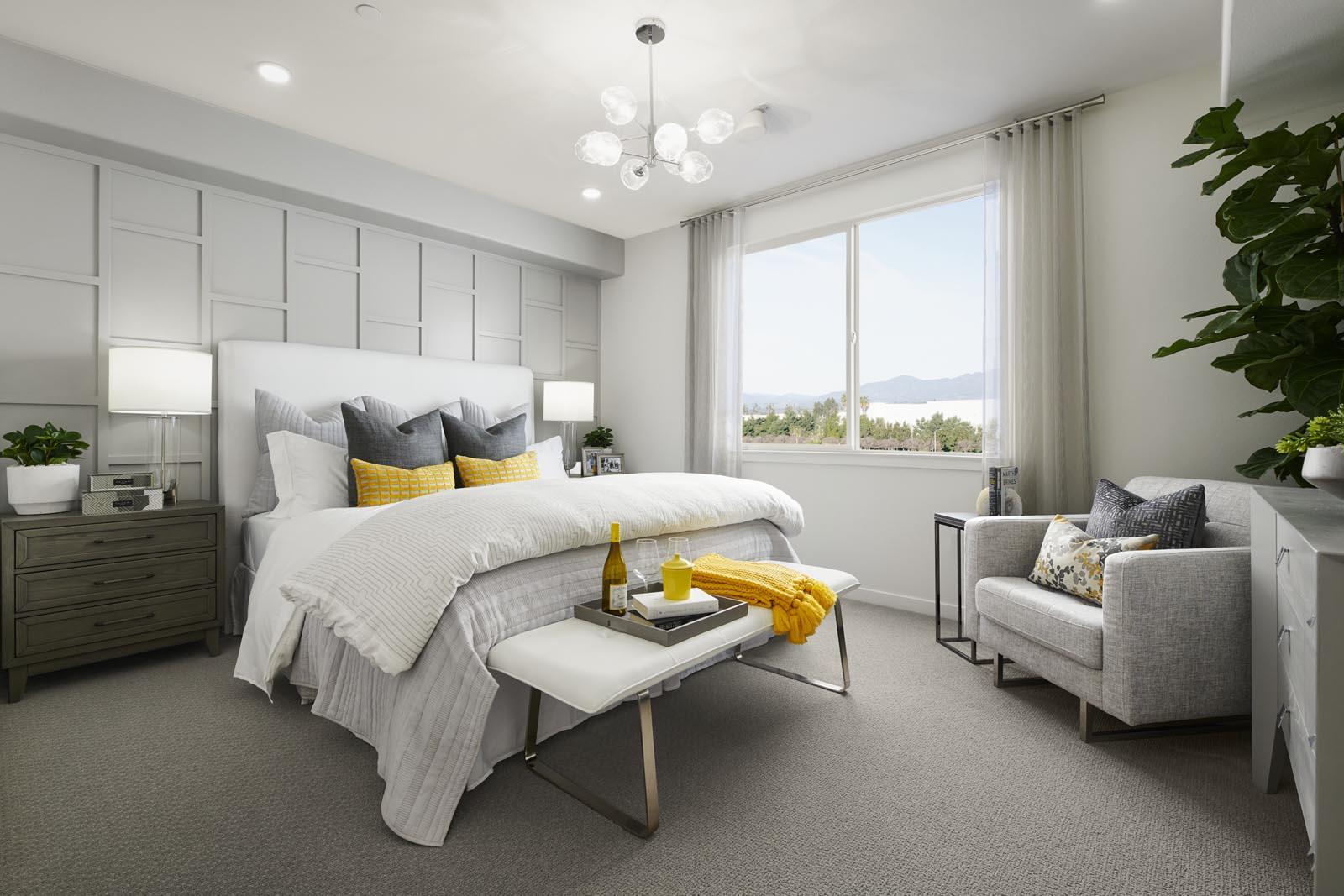 Master Bedroom | Residence 1 | Aspire | New Homes in Rancho Cucamonga, CA | Van Daele Homes