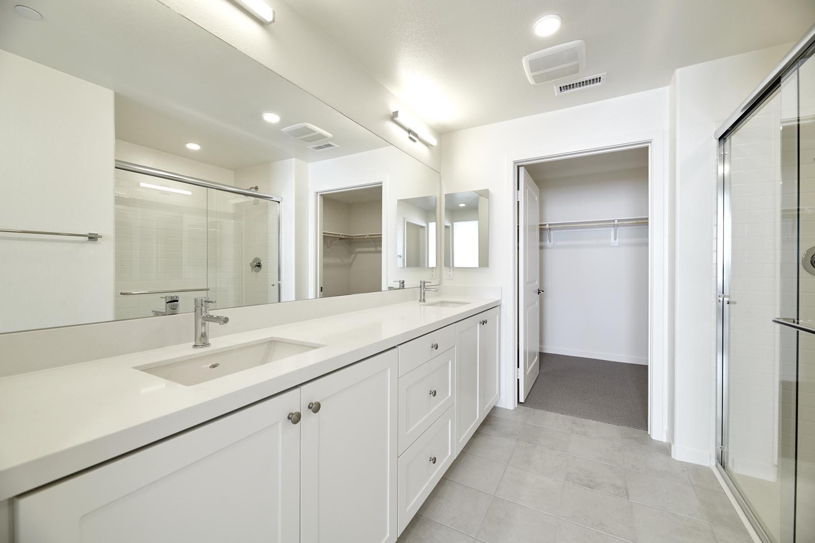 Master Bathroom | Residence 2 | Aspire | New Homes in Rancho Cucamonga, CA | Van Daele Homes