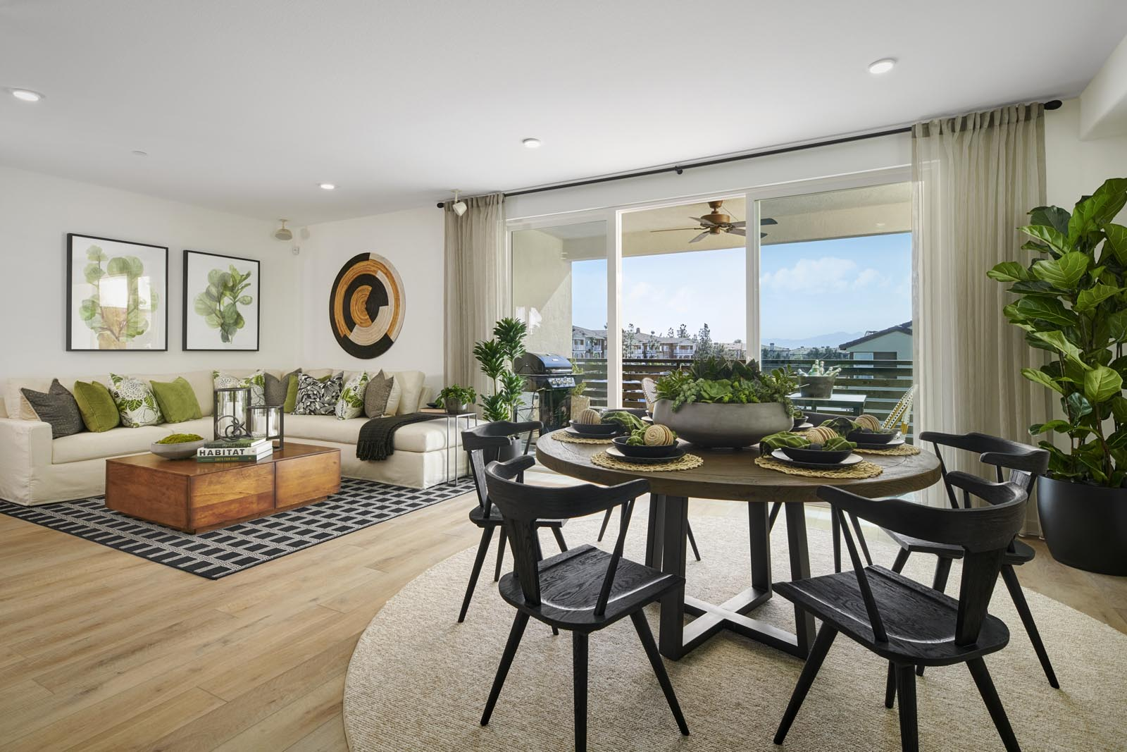 Dining Area to Great Room | Residence 3 | Aspire | New Homes in Rancho Cucamonga, CA | Van Daele Homes
