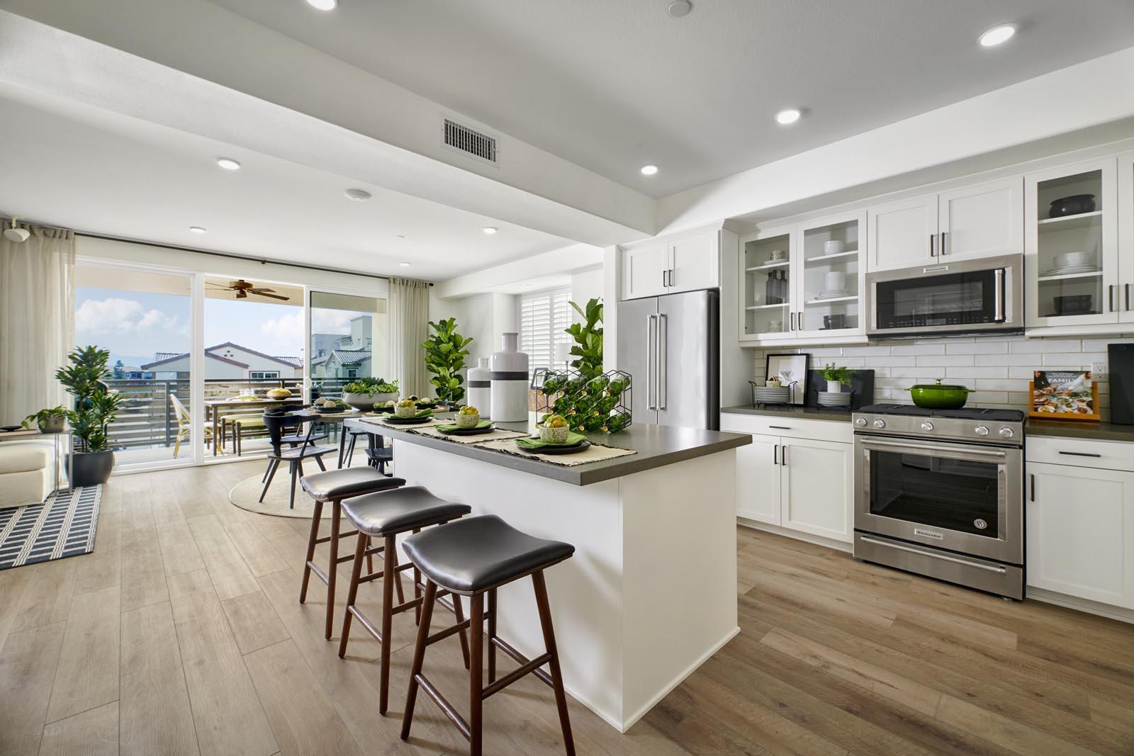 Kitchen | Residence 3 | Aspire | New Homes in Rancho Cucamonga, CA | Van Daele Homes