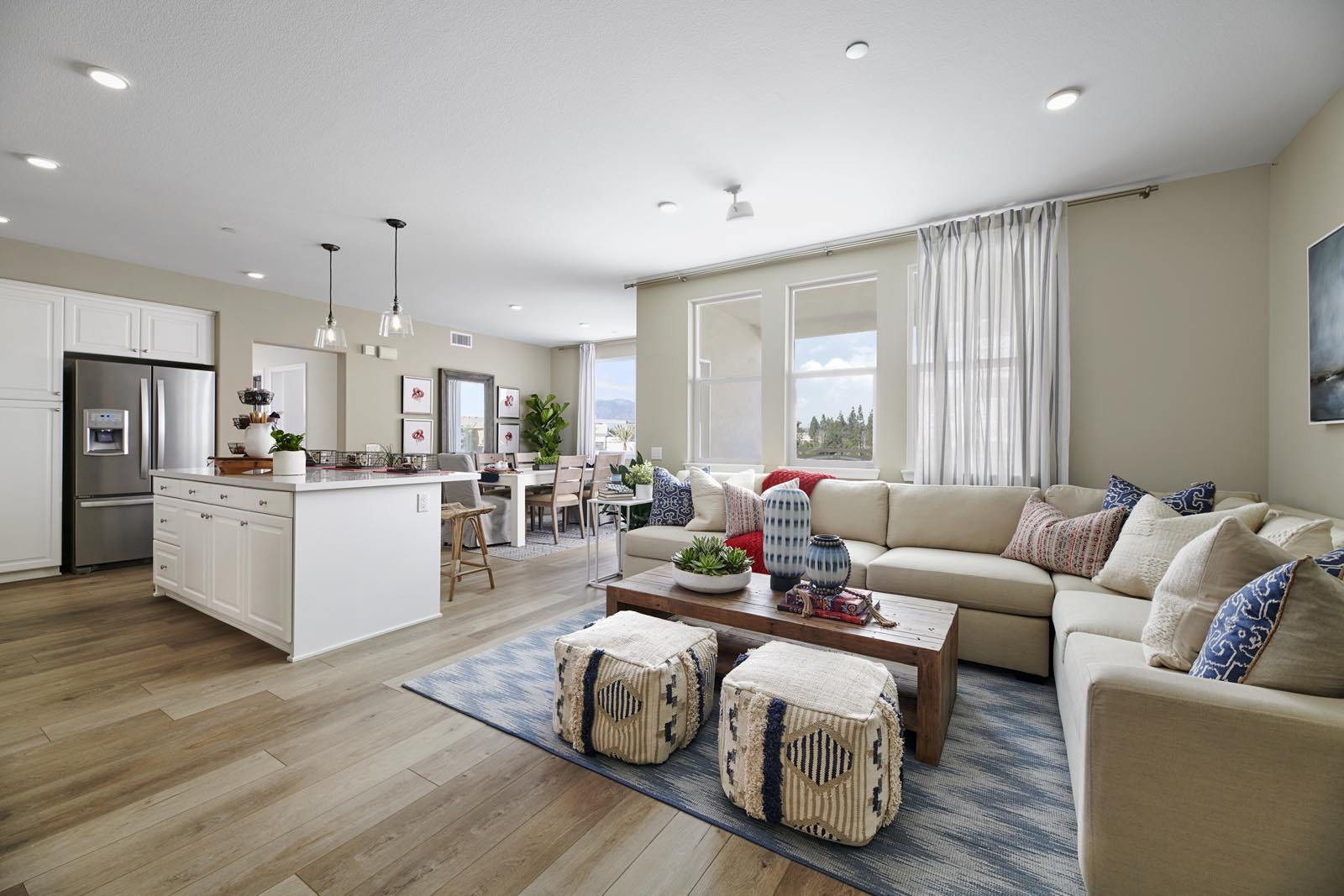 Great Room to Kitchen | Residence 4 | Aspire | New Homes in Rancho Cucamonga, CA | Van Daele Homes