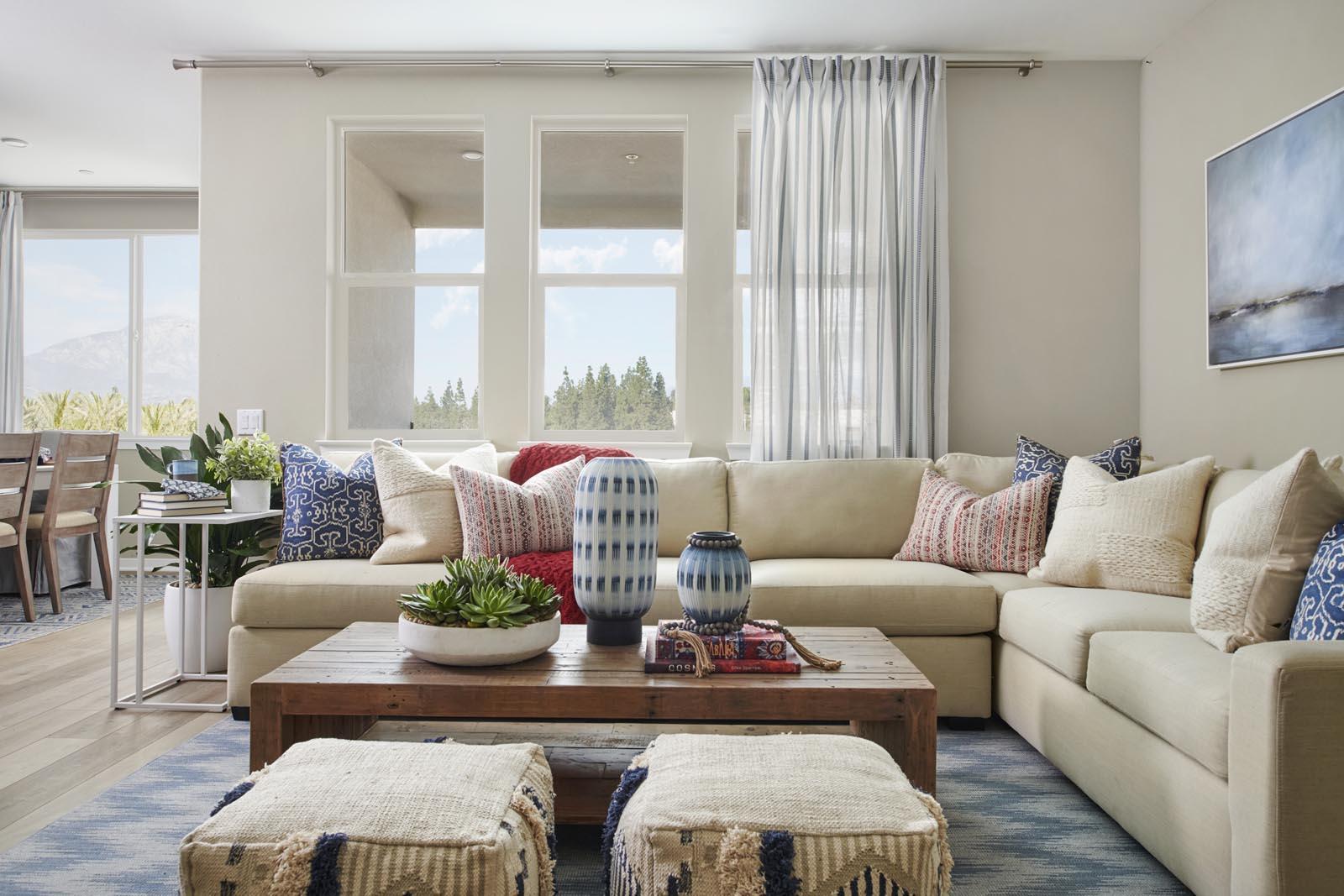 Great Room | Residence 4 | Aspire | New Homes in Rancho Cucamonga, CA | Van Daele Homes
