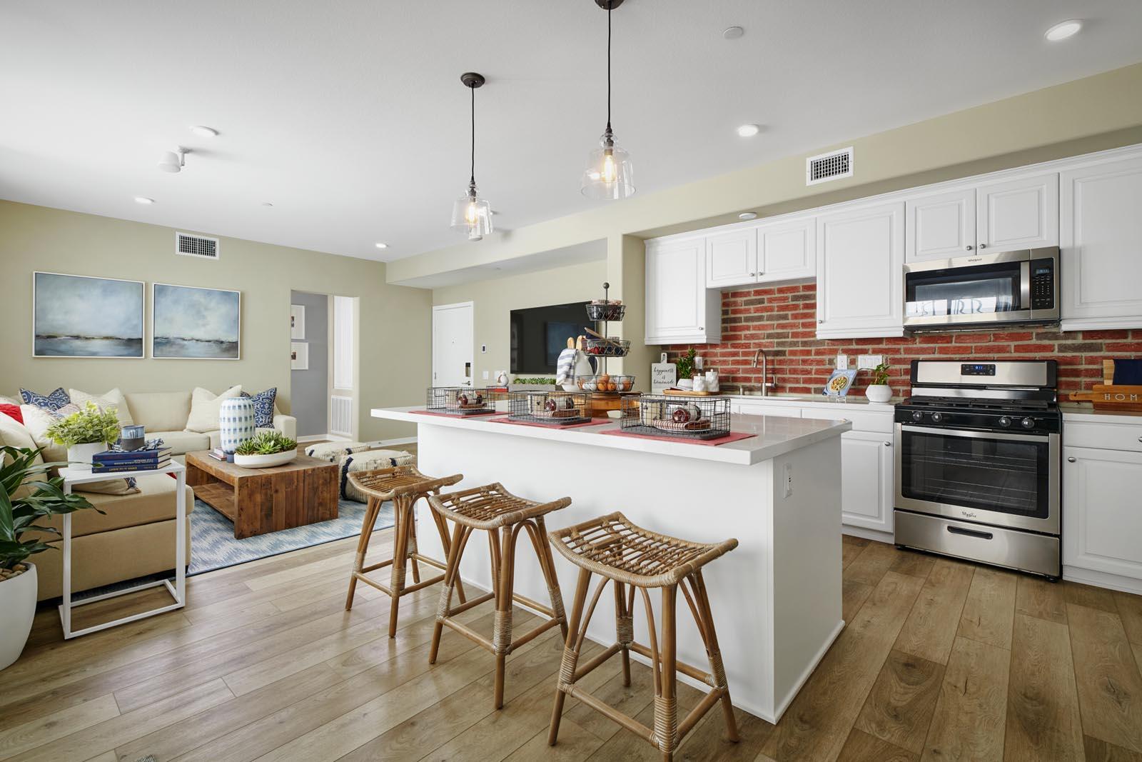 Kitchen | Residence 4 | Aspire | New Homes in Rancho Cucamonga, CA | Van Daele Homes
