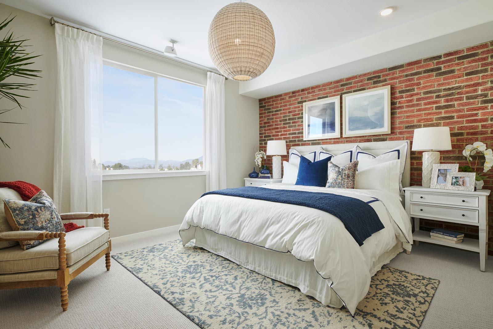 Master Bedroom | Residence 4 | Aspire | New Homes in Rancho Cucamonga, CA | Van Daele Homes