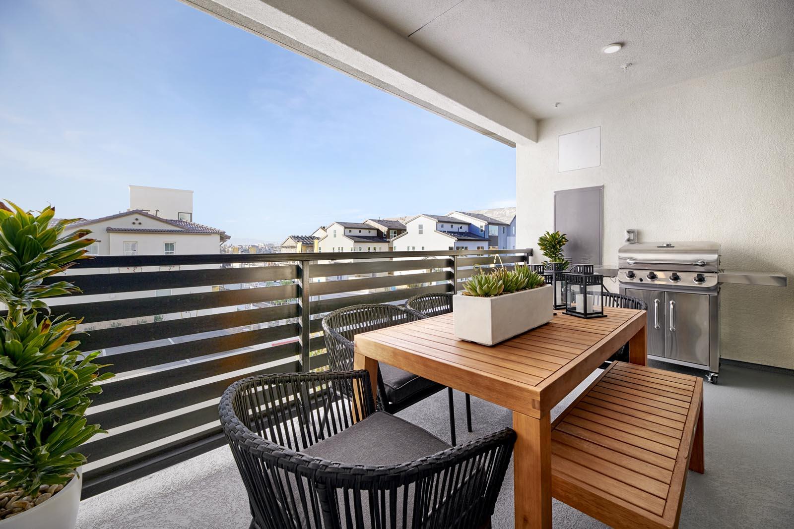 Deck | Residence 5 | Aspire | New Homes in Rancho Cucamonga, CA | Van Daele Homes