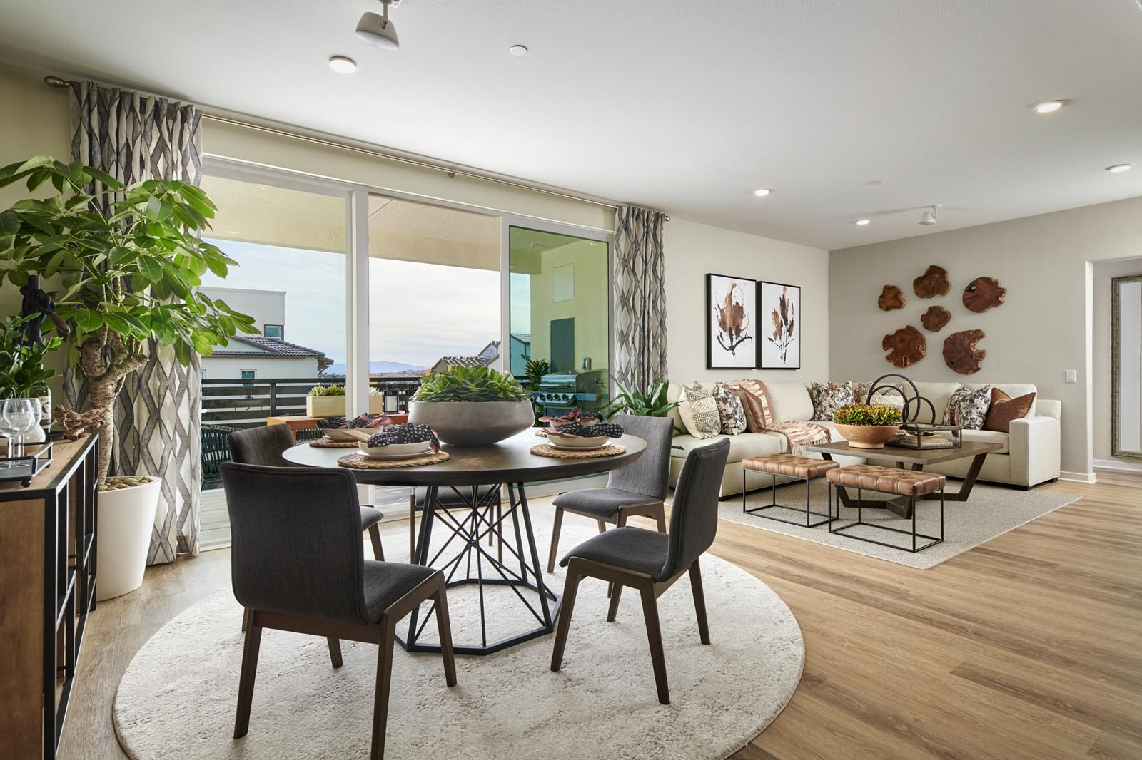 Dining Area to Great Room | Residence 5 | Aspire | New Homes in Rancho Cucamonga, CA | Van Daele Homes