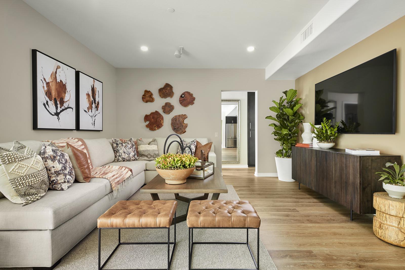 Great Room | Residence 5 | Aspire | New Homes in Rancho Cucamonga, CA | Van Daele Homes