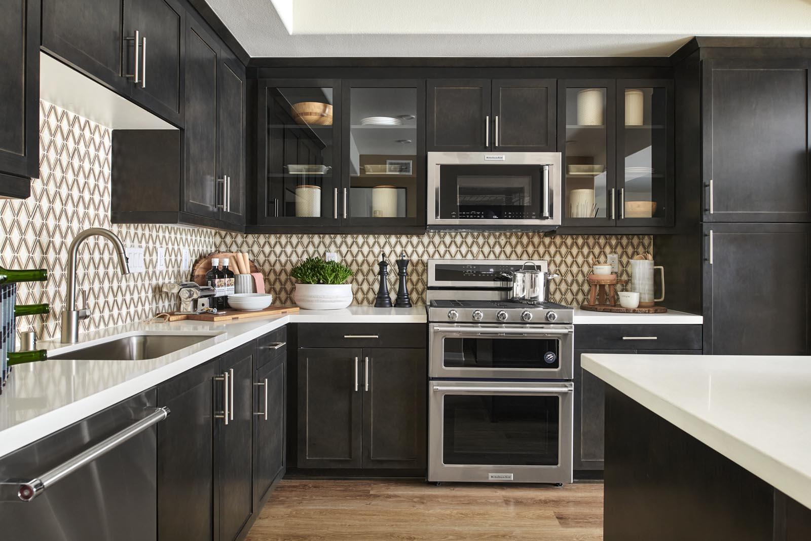 Kitchen | Residence 5 | Aspire | New Homes in Rancho Cucamonga, CA | Van Daele Homes