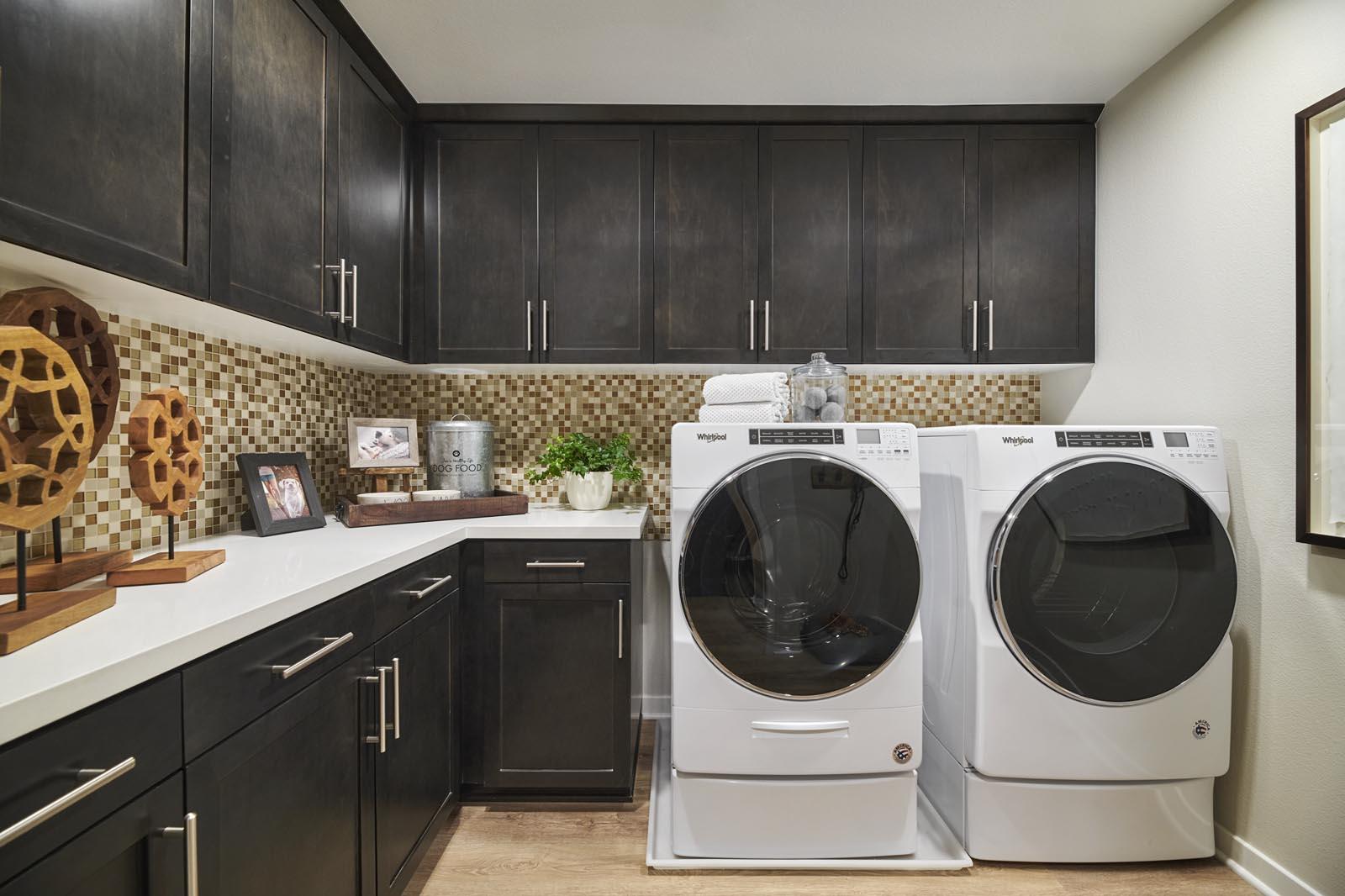Laundry Room | Residence 5 | Aspire | New Homes in Rancho Cucamonga, CA | Van Daele Homes