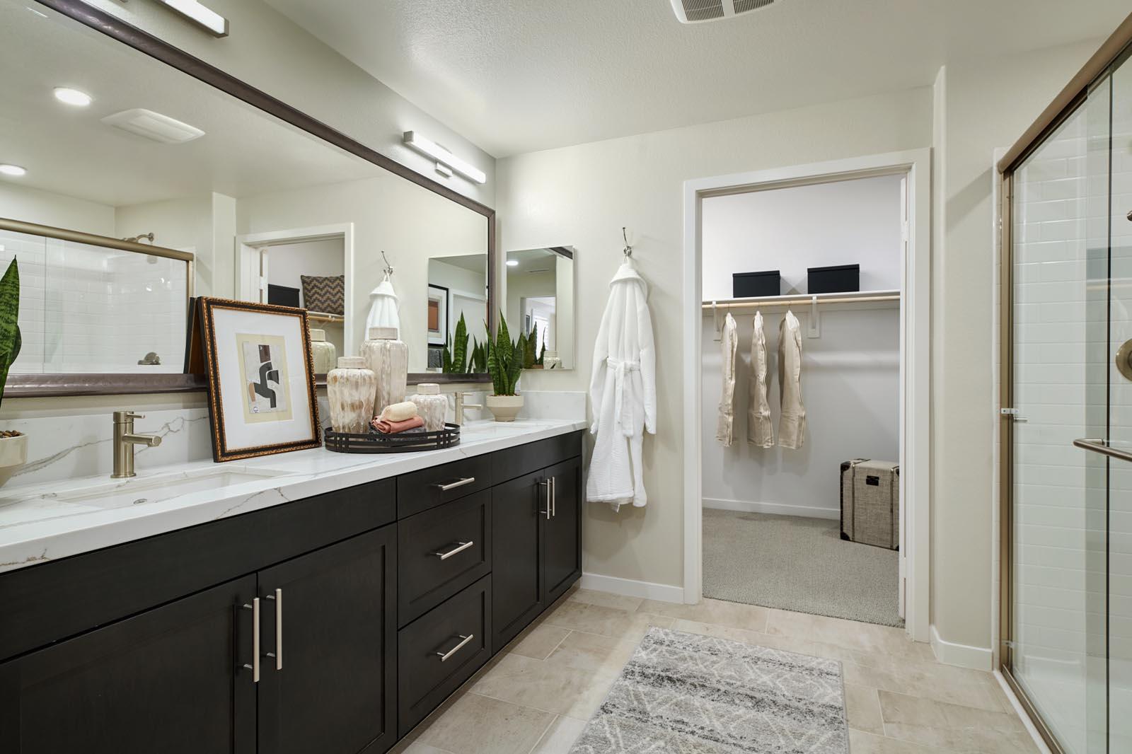 Bathroom | Residence 5 | Aspire | New Homes in Rancho Cucamonga, CA | Van Daele Homes