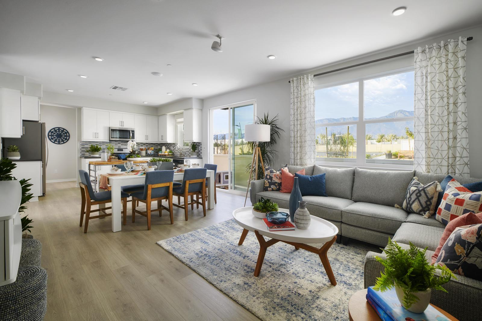 Great Room to Dining Area   Residence 1   Enliven   New Homes in Rancho Cucamonga, CA   Van Daele Homes