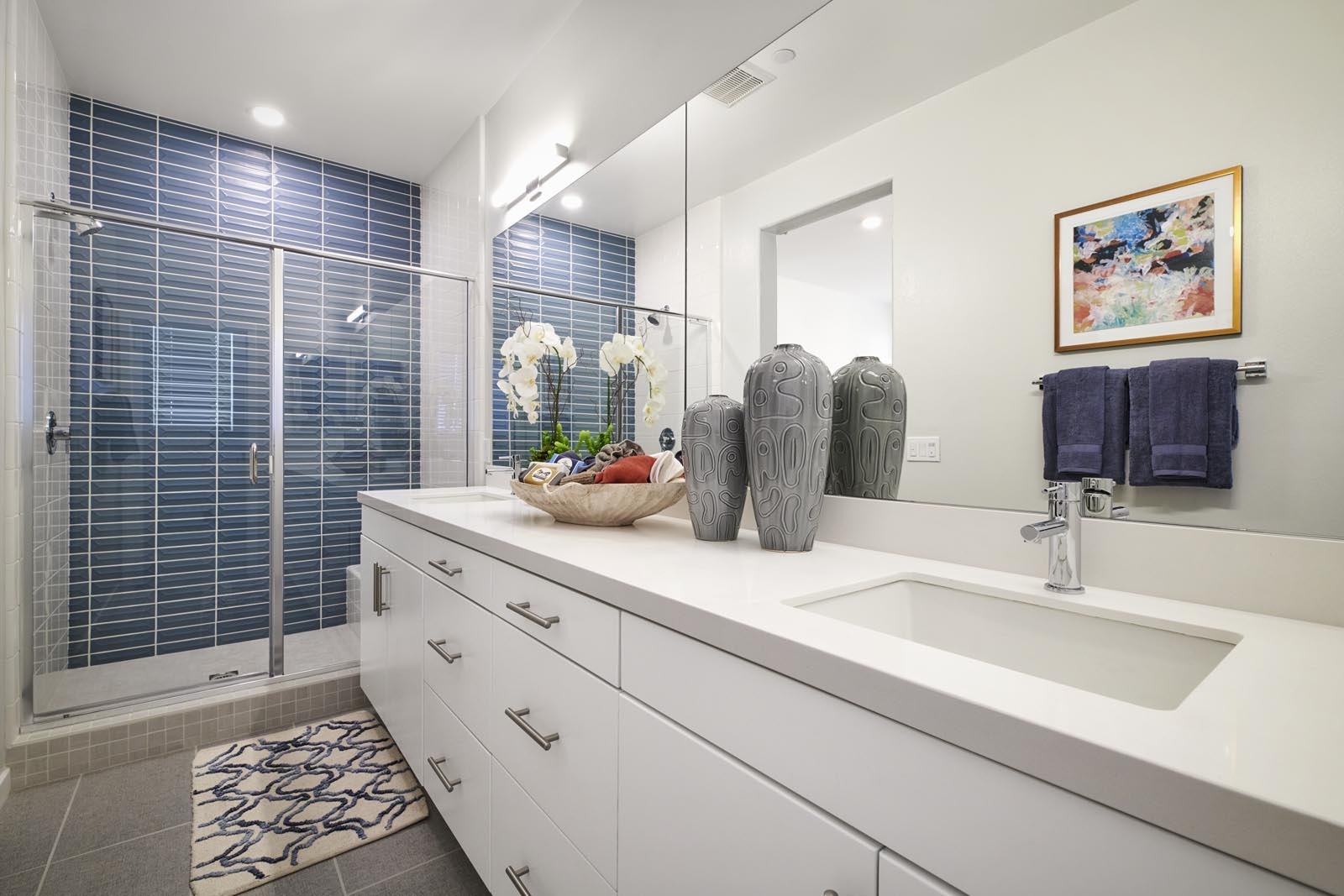 Master Bathroom | Residence 1 | Enliven | New Homes in Rancho Cucamonga, CA | Van Daele Homes