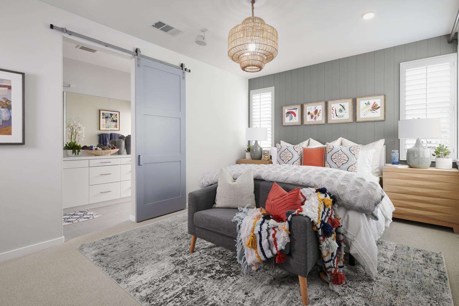 Master Bedroom | Residence 1 | Enliven | New Homes in Rancho Cucamonga, CA | Van Daele Homes
