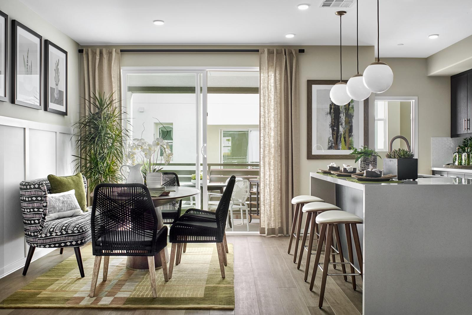 Dining Area | Residence 3 | Enliven | New Homes in Rancho Cucamonga, CA | Van Daele Homes