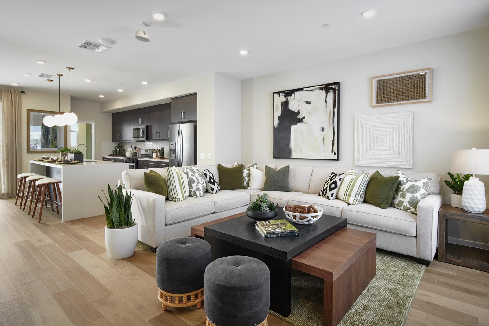 Great Room | Residence 3 | Enliven | New Homes in Rancho Cucamonga, CA | Van Daele Homes