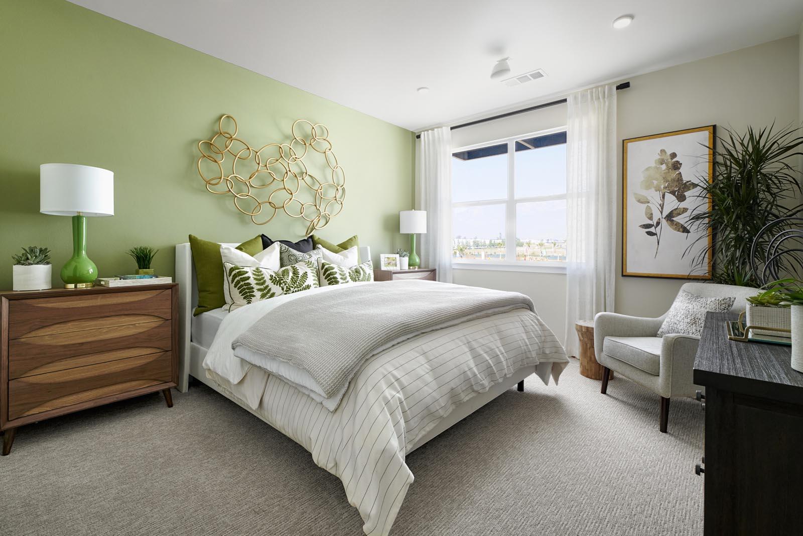 Master Bedroom | Residence 3 | Enliven | New Homes in Rancho Cucamonga, CA | Van Daele Homes