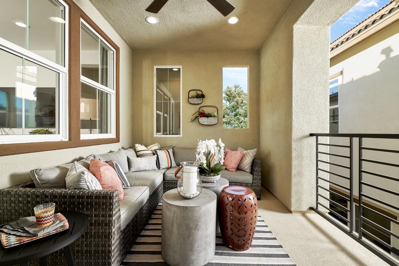 Deck | Residence 1 | Lumin | New Homes in Rancho Cucamonga, CA | Van Daele Homes