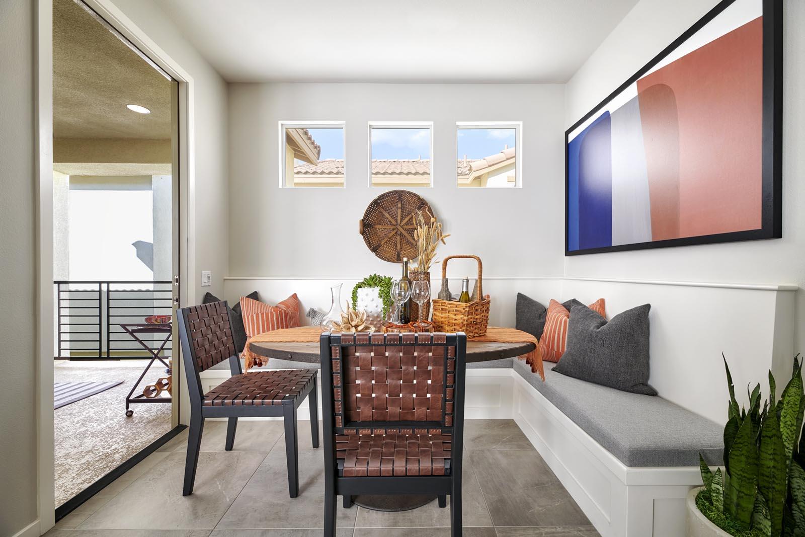 Dining Area | Residence 1 | Lumin | New Homes in Rancho Cucamonga, CA | Van Daele Homes