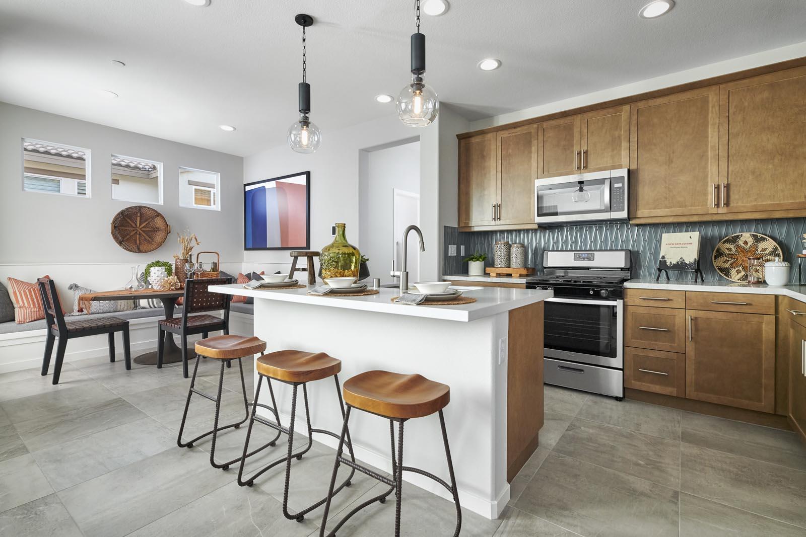 Kitchen   Residence 1   Lumin   New Homes in Rancho Cucamonga, CA   Van Daele Homes