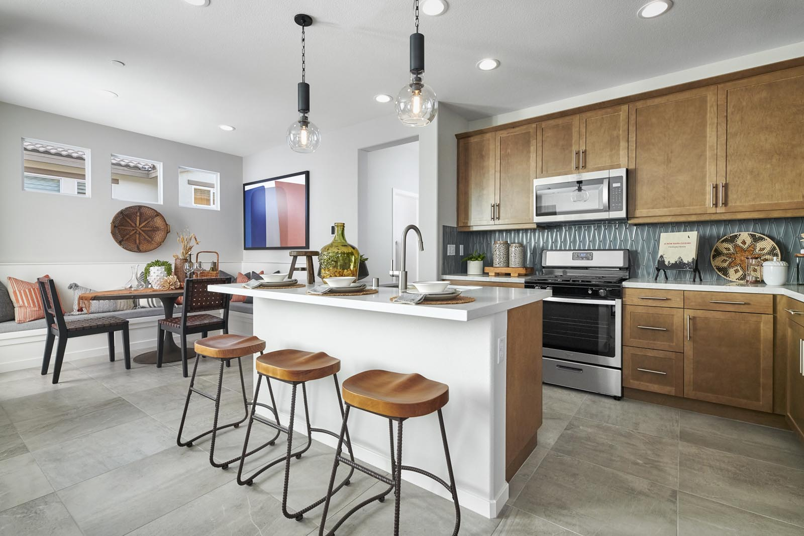 Kitchen | Residence 1 | Lumin | New Homes in Rancho Cucamonga, CA | Van Daele Homes