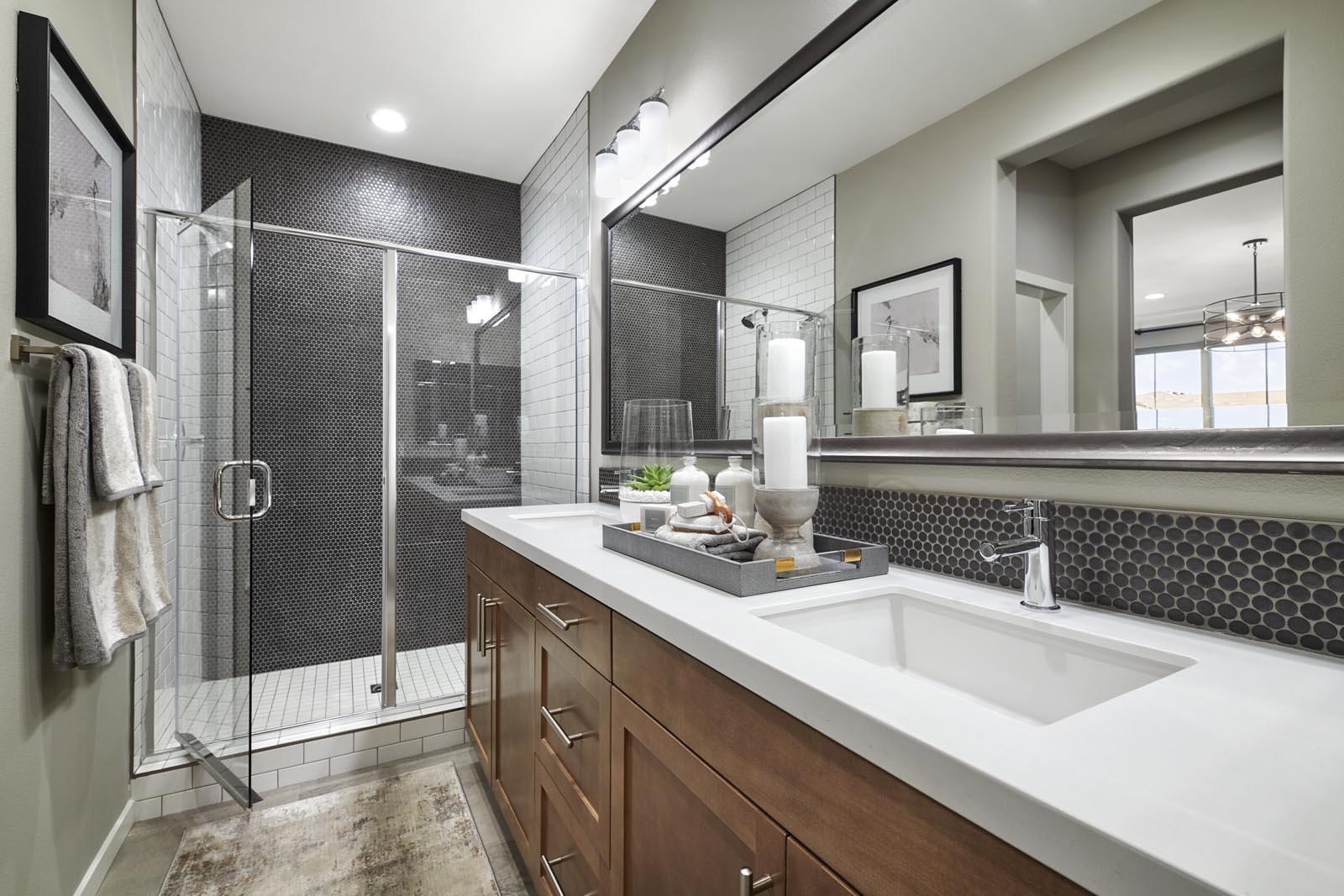 Master Bathroom | Residence 1 | Lumin | New Homes in Rancho Cucamonga, CA | Van Daele Homes