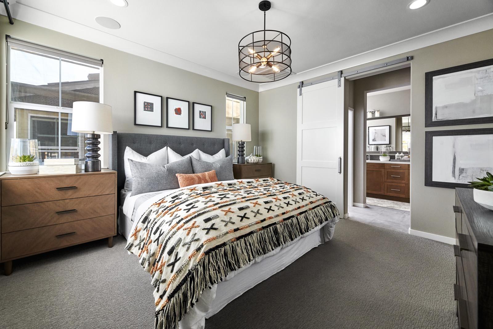 Master Bedroom | Residence 1 | Lumin | New Homes in Rancho Cucamonga, CA | Van Daele Homes