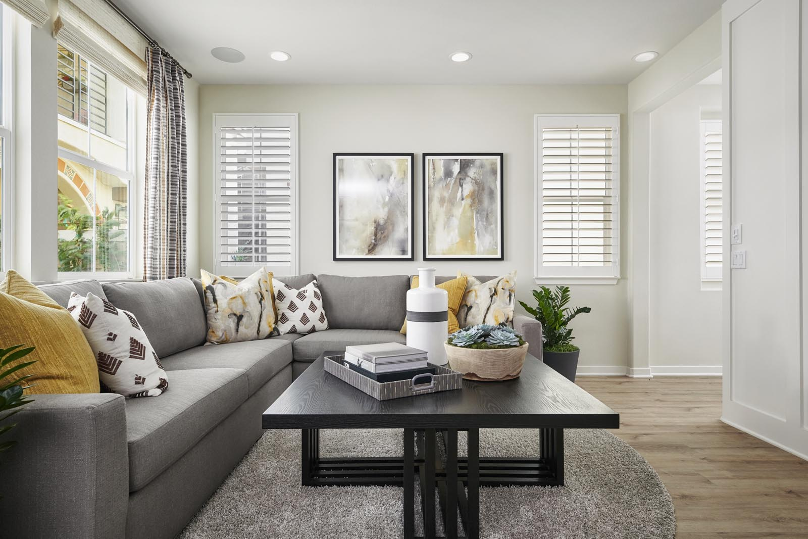 Great Room   Residence 2   Lumin   New Homes in Rancho Cucamonga, CA   Van Daele Homes