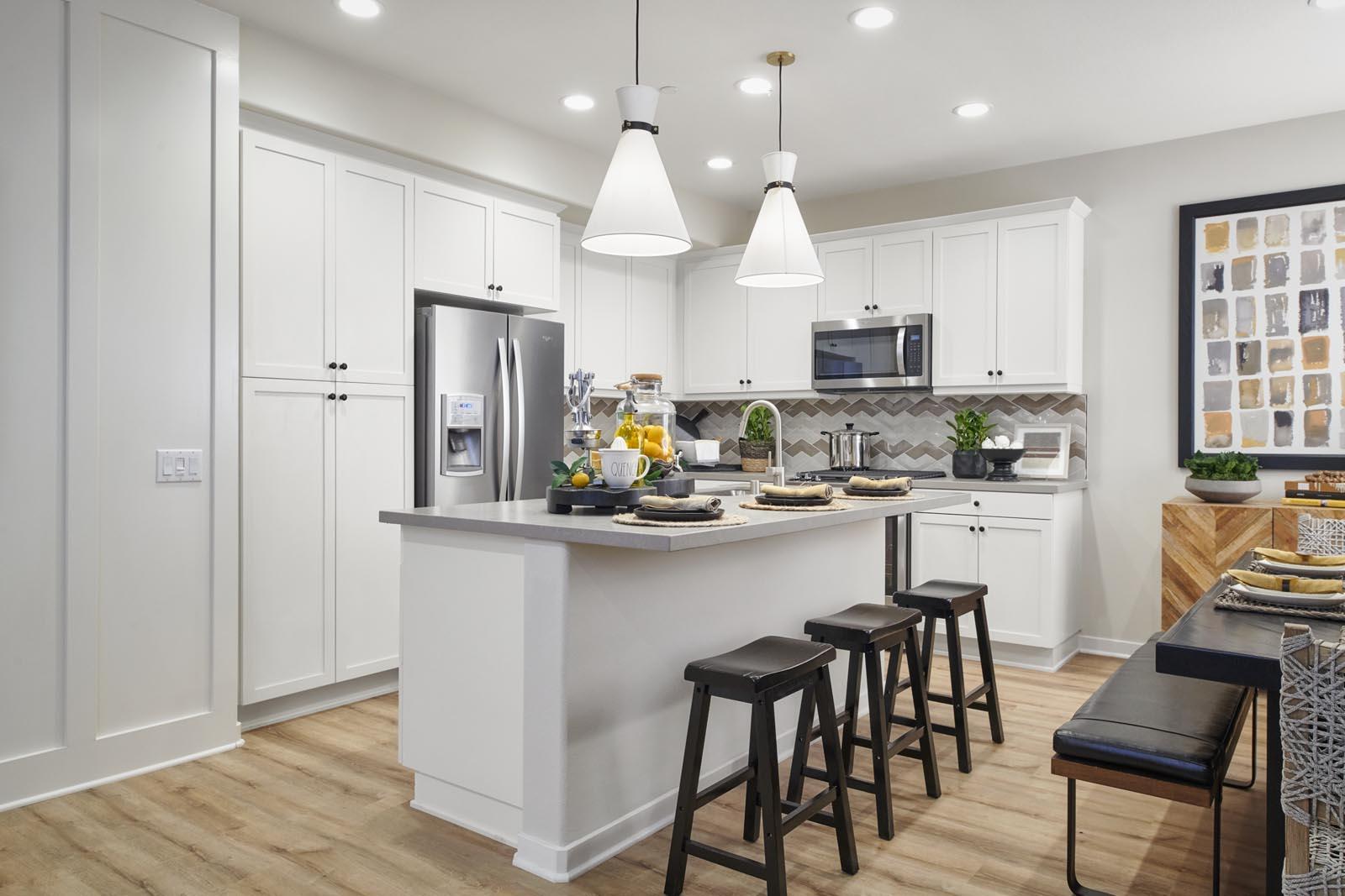 Kitchen | Residence 2 | Lumin | New Homes in Rancho Cucamonga, CA | Van Daele Homes