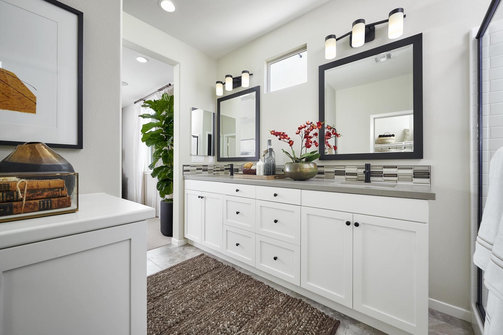 Master Bathroom | Residence 2 | Lumin | New Homes in Rancho Cucamonga, CA | Van Daele Homes
