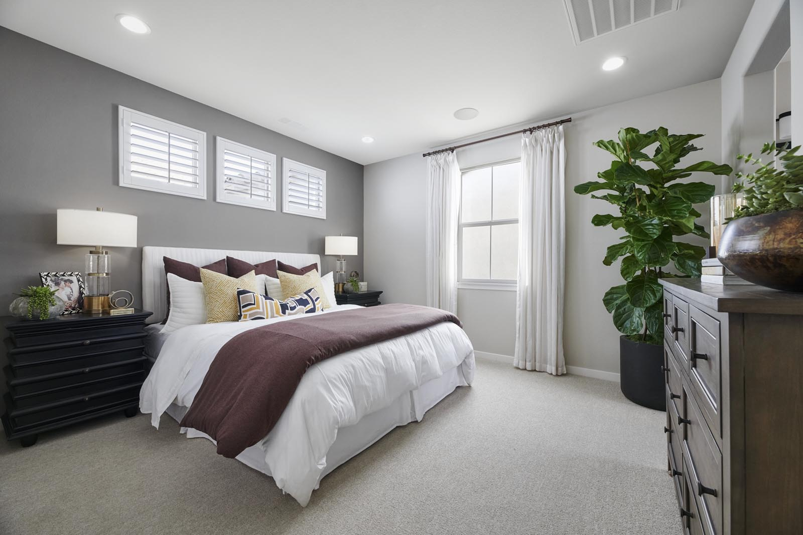Master Bedroom | Residence 2 | Lumin | New Homes in Rancho Cucamonga, CA | Van Daele Homes