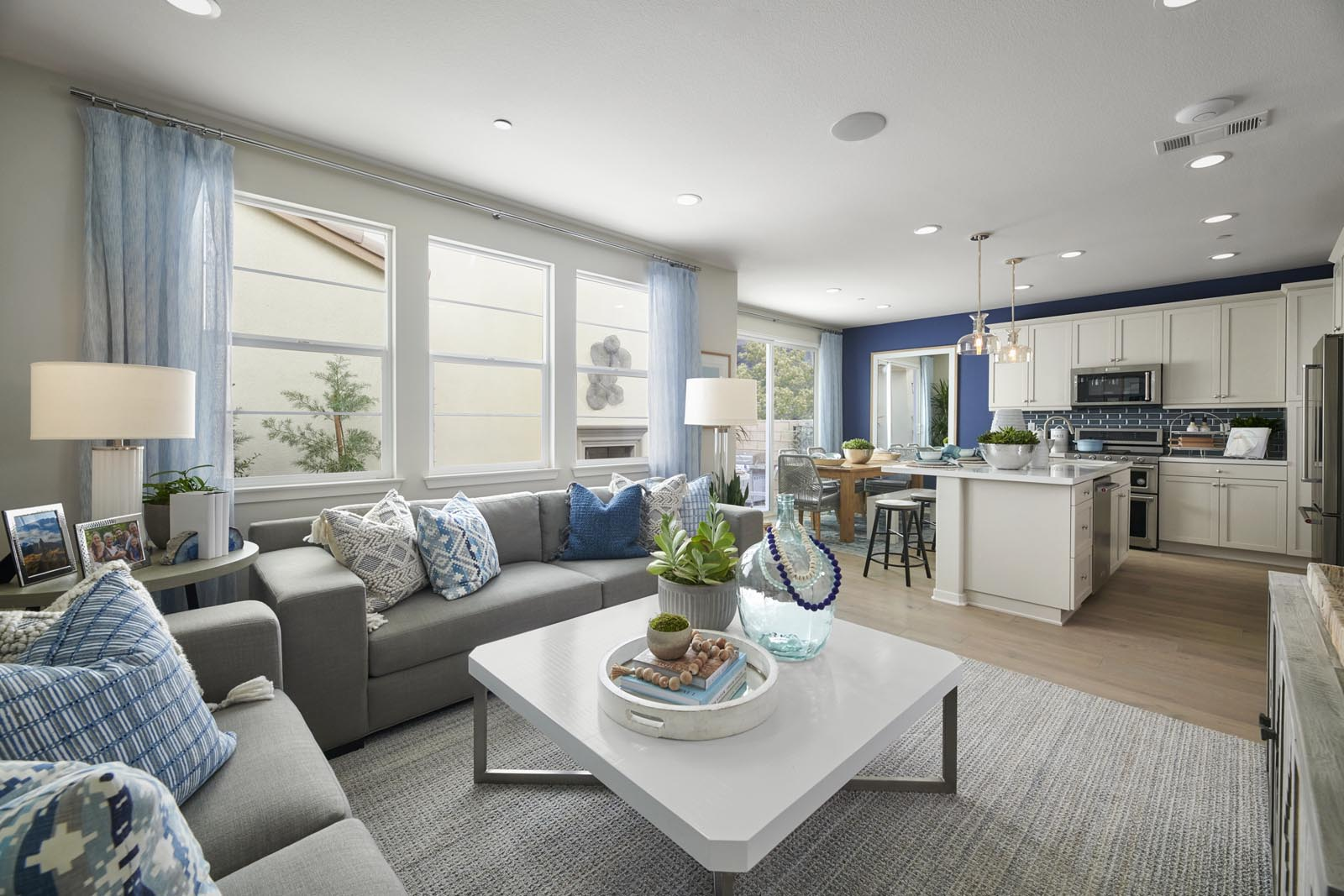 Great Room to Kitchen   Residence 3   Lumin   New Homes in Rancho Cucamonga, CA   Van Daele Homes