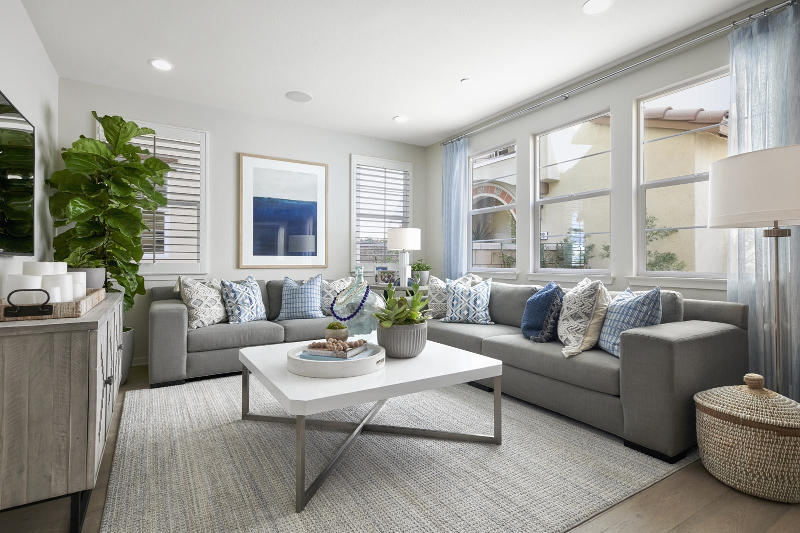 Great Room | Residence 3 | Lumin | New Homes in Rancho Cucamonga, CA | Van Daele Homes