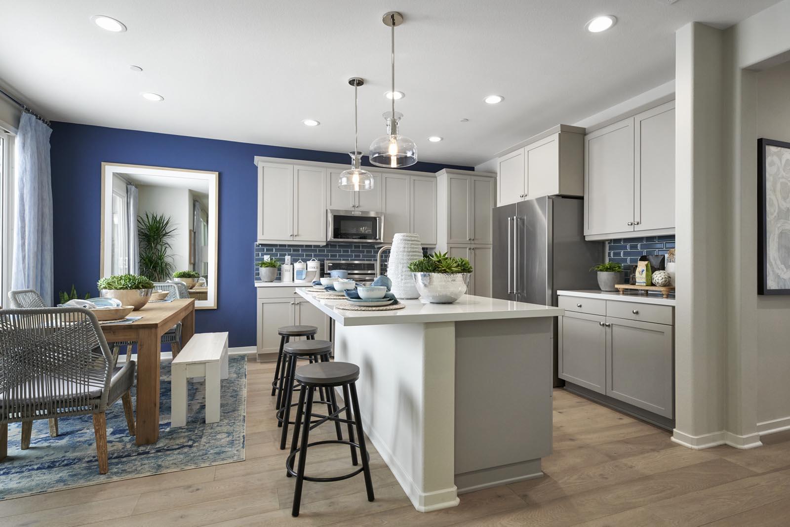 Kitchen | Residence 3 | Lumin | New Homes in Rancho Cucamonga, CA | Van Daele Homes