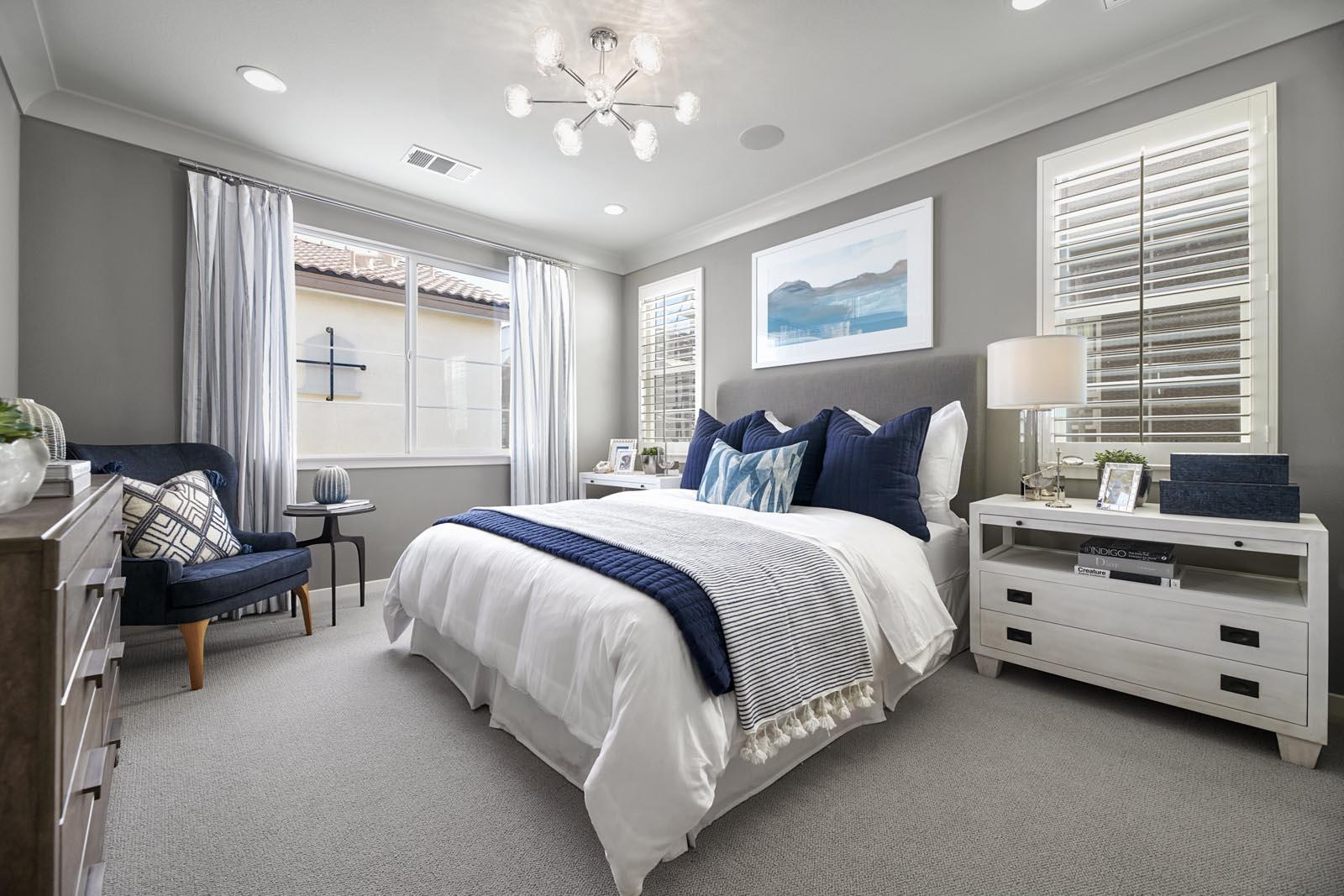 Master Bedroom | Residence 3 | Lumin | New Homes in Rancho Cucamonga, CA | Van Daele Homes