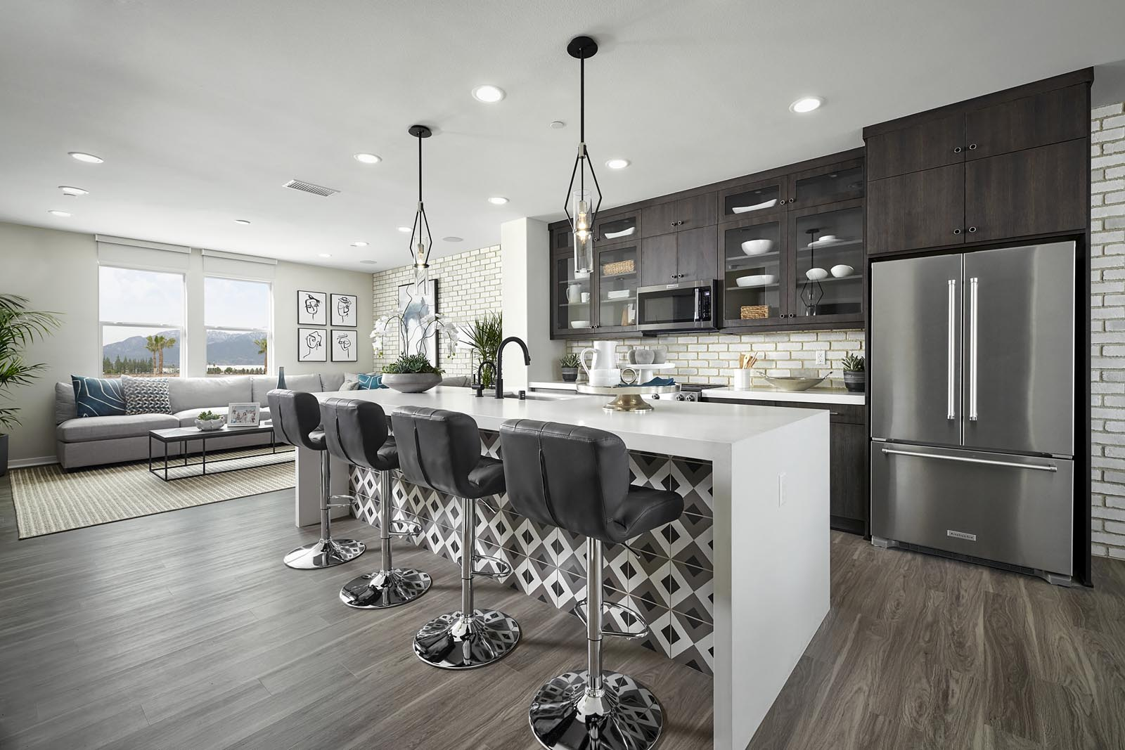 Kitchen | Residence 2 | Tempo | New Homes in Rancho Cucamonga, CA | Tri Pointe Homes