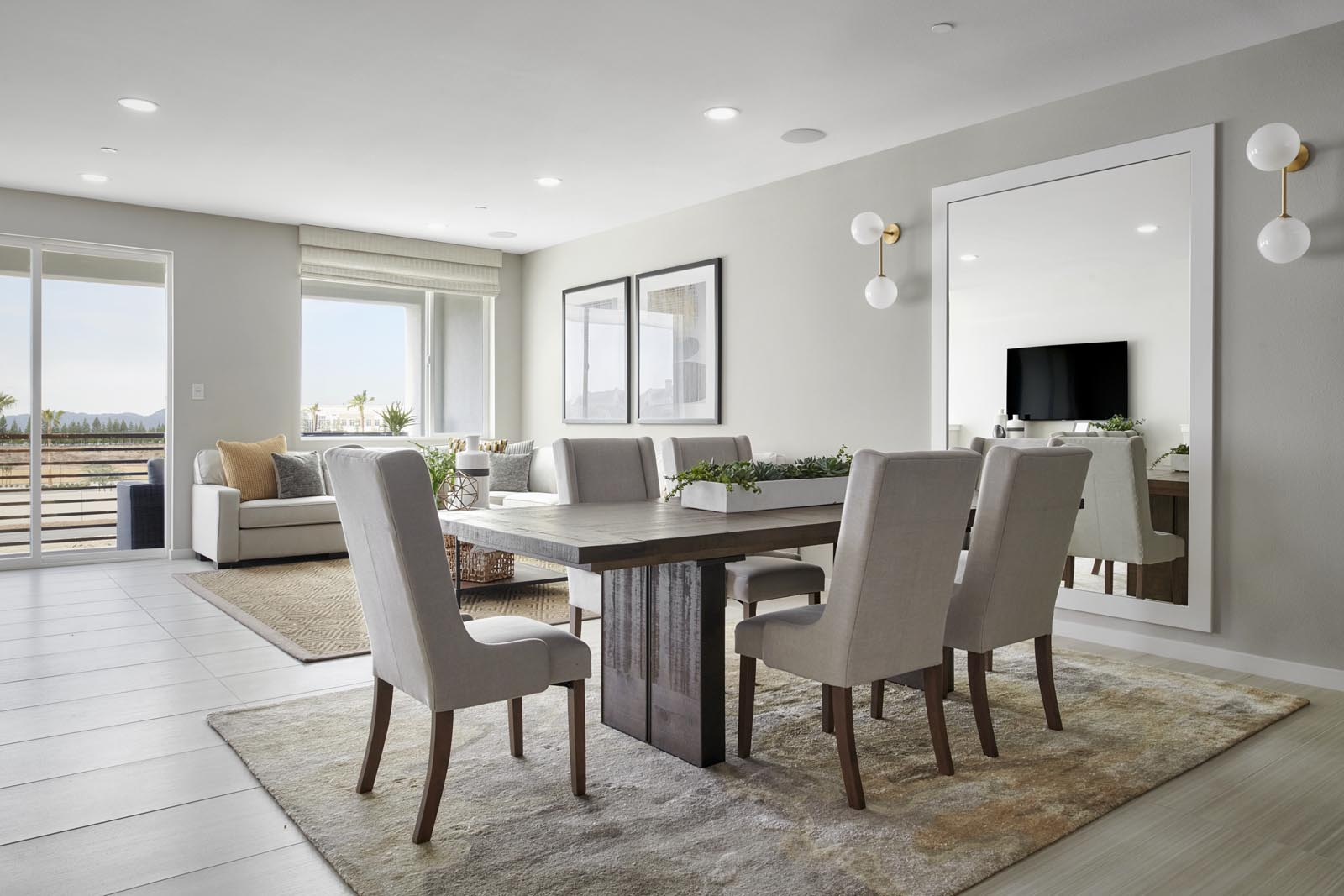 Dining Area | Residence 3 | Tempo | New Homes in Rancho Cucamonga, CA | Tri Pointe Homes