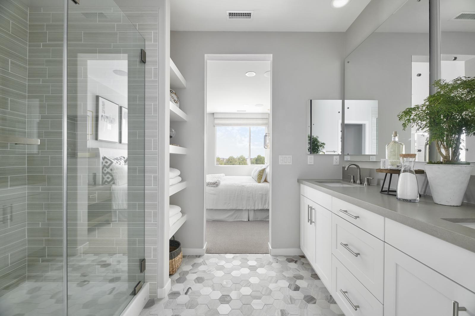 Master Bathroom | Residence 3 | Tempo | New Homes in Rancho Cucamonga, CA | Tri Pointe Homes