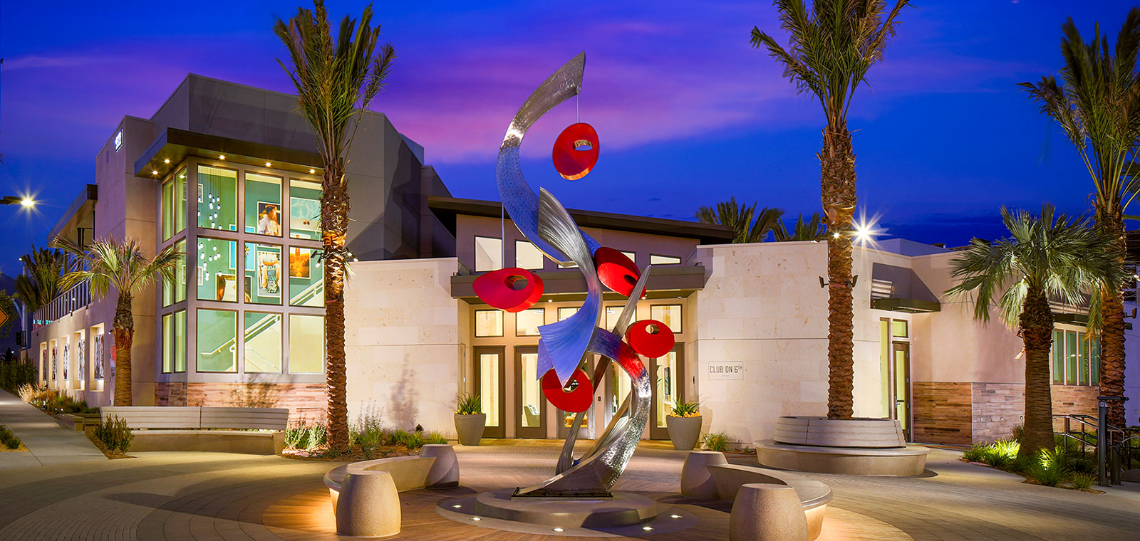 Front at dusk | The Resort | New Homes in Rancho Cucamonga, CA